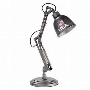 Bureau En Metal : lampe de bureau en m tal h 46 cm paterson andrews maisons du monde ~ Nature-et-papiers.com Idées de Décoration