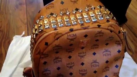 mcm cognac stark backpack real  fake comparison youtube