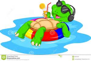 Cute Green Cartoon Turtle