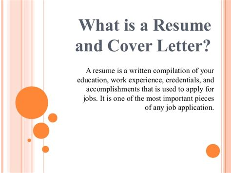 Why Use A Resume by Importance Of Resume And Cover Letter