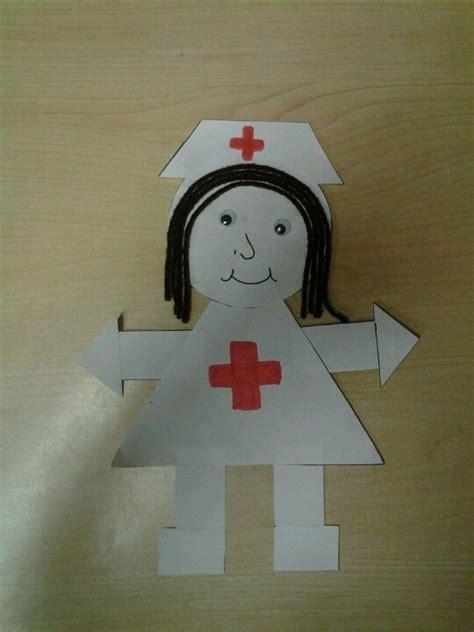 nurse shape craft community helpers preschool crafts