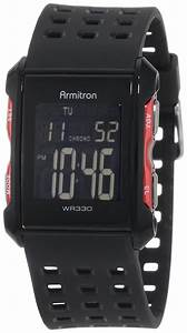 Armitron Sport Mens 408177red Chronograph Black And Red