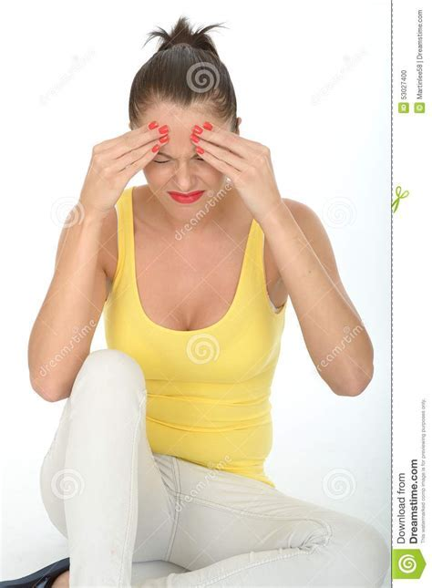 Stressed Frustrated Fed Up Young Woman With Painful