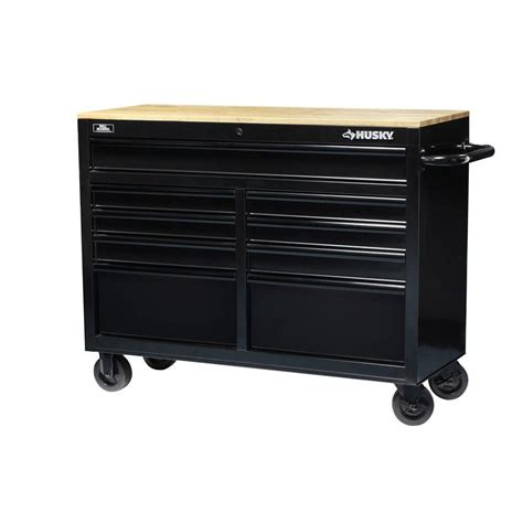 husky tool storage cabinets husky tool chest box 46 in 9 drawer toolbox cabinet