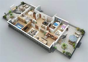 apartment designs shown with rendered 3d floor plans With small apartment floor plans 3d