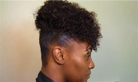 Easy Summer TWA Natural Hair High Puff tutorial