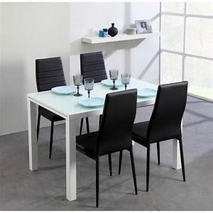 Table Extensible Salle A Manger : roma table extensible 120 180cm verre blanc achat vente table salle a manger pas cher ~ Teatrodelosmanantiales.com Idées de Décoration