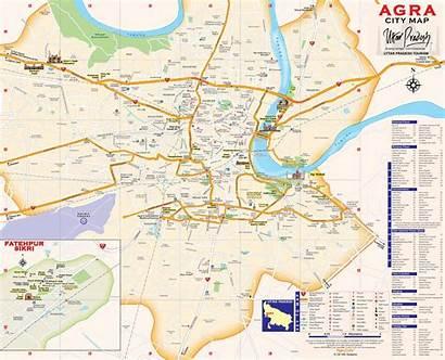 Agra Mathura Vrindavan Map Sanjay Place Peta