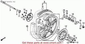 Honda Cb450sc Nighthawk 1982  C  Usa Front Wheel  U0026 39 82