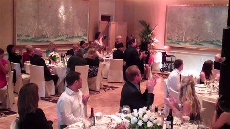 grand entrance at small wedding reception