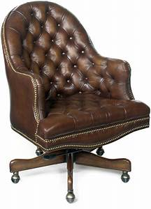 Blarney, Brown, Leather, Executive, Swivel, Tilt, Chair, Ec292, Hooker, Furniture