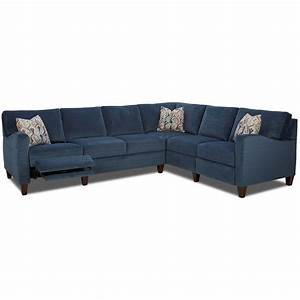 klaussner colleen hybrid reclining sectional with raf With sectional sofa w recliners