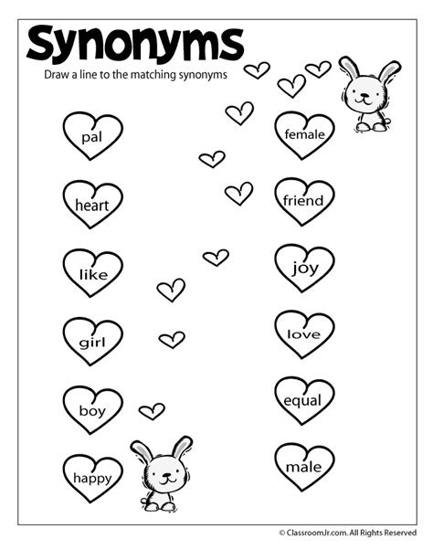 preschool synonyms reading worksheets antonyms and synonyms woo jr 527