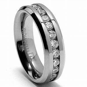 cheap 6mm ladies eternity titanium ring wedding band with With ladies titanium wedding rings
