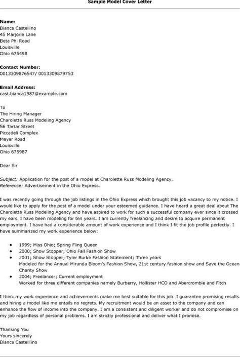 Model Of Cover Letter For Resume by Model Cover Letter Sle 8 Cover Letter Sle For Application Basic Appication Letter