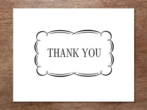 free thank you notes templates 7 best images of black and white thank you cards printable