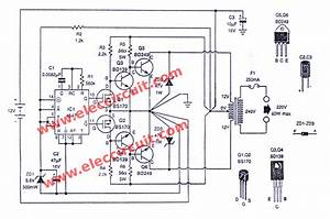 Dc To Ac Converter Circuits  12v To 220vac  U2013 Electronic Projects Circuits