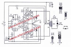 Four Cd4047 Inverter Circuit 60w