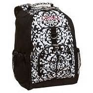 pottery barn teen backpacks pottery barn teen gear up black damask backpack with