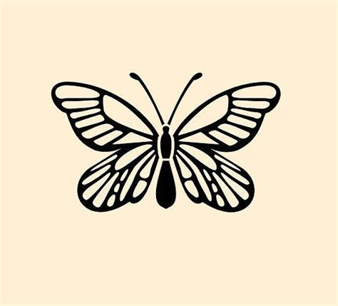 butterfly stencil template craft stencils insect