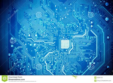Blue Circuit Board Royalty Free Stock Photo Image
