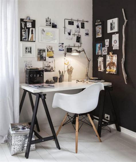 photo deco bureau bureau décoration scandinave noir et blanc