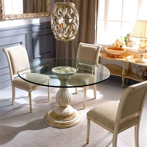 classic italian louis xvi reproduction  glass dining