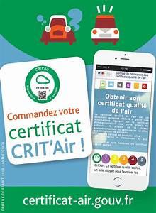 Certificat Qualité De L Air : cr ation d 39 un visuel pour crit 39 air le certificat de la qualit de l 39 air ~ Medecine-chirurgie-esthetiques.com Avis de Voitures