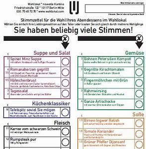 Wie Sieht Ein Hummelnest Aus : im wahllokal in berlin sieht die speisekarte wie ein wahlzettel aus ~ Yasmunasinghe.com Haus und Dekorationen
