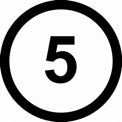 Number Icon Five Svg Onlinewebfonts 2199