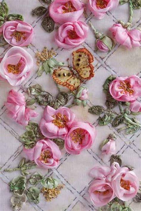 ribbonwork  van niekerks silk ribbon embroidery