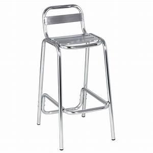 Tabouret De Bar Inox : chaise haute en aluminium cra 39 one mobilier ~ Teatrodelosmanantiales.com Idées de Décoration