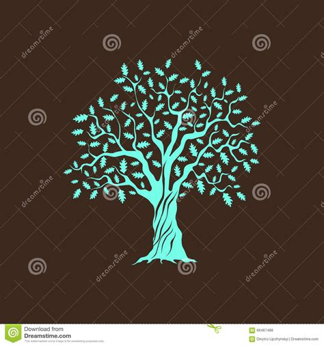 green silhouette eco city flat vector stock vector image green oak tree stock vector image 66467488 Beautiful