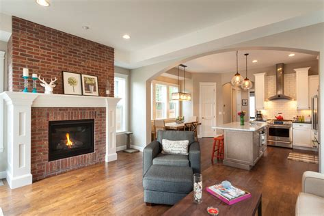 chic painting brick fireplace convention other metro