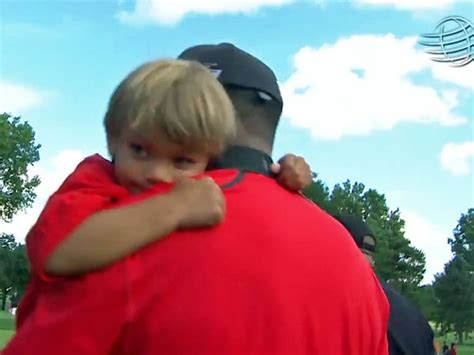 Tiger Woods Celebrates With Son [VIDEO]