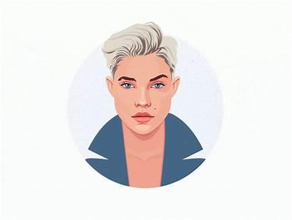 Face Vector Portrait Woman Illustration Avatar Drawing