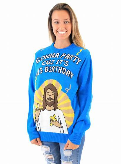 Jesus Birthday Sweater Ugly Christmas Party Gonna