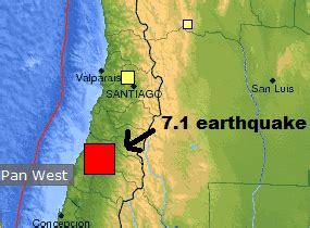 earthquake   south central coast  chile earth