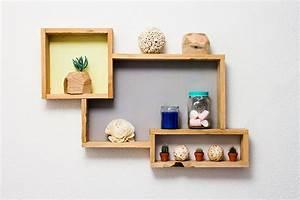 Etagere Bois Murale : deco etagere murale bois ~ Nature-et-papiers.com Idées de Décoration