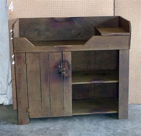how to make a changing table rustic dry sink that would make an adorable baby changing