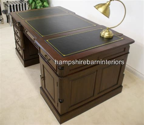 partners desk reproduction  woodworking