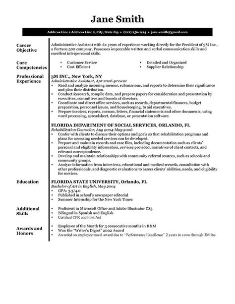 How To Write A Professional Resume Exles by 1000 Ideas About Resume Objective On Resume