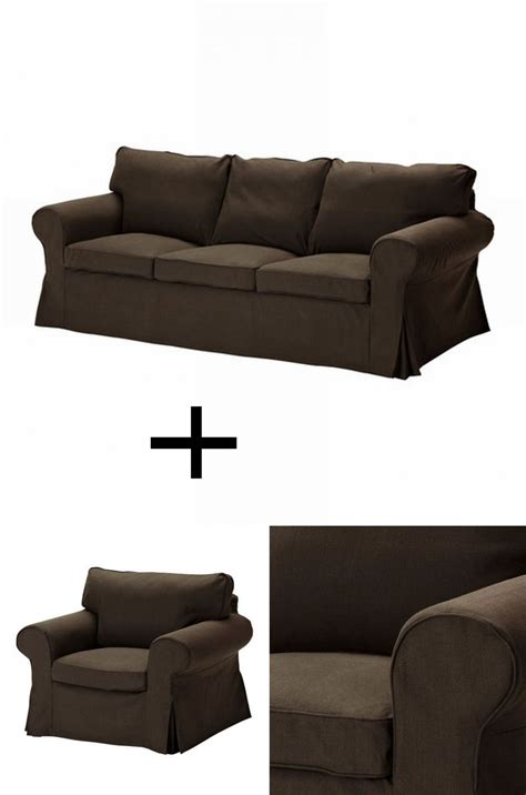ikea ektorp 3 seat sofa and armchair slipcover set covers