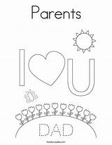 Coloring Parents Dad Mom Mother Father Print Built California Usa Twistynoodle sketch template