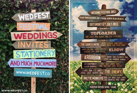 festival weddings vintage wooden wedding sign wedfest