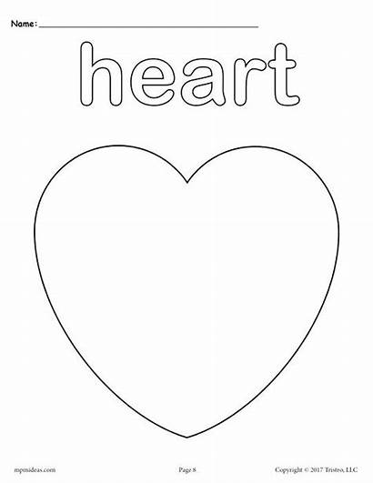 Coloring Pages Heart Candy Shapes Basic Printable