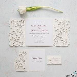 vintage lace invitations and wedding dresses confetticouk With lace pocket wedding invitations uk