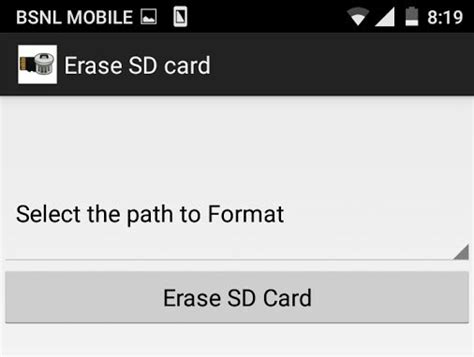 format sd card android how to format sd card in android stugon
