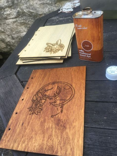 binding  wooden notebook  coptic binding