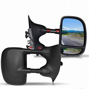 Dot Approved Black Manual Towing Mirrors Passenger And
